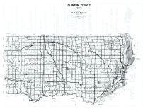 Clinton County Map, Clinton County 1960